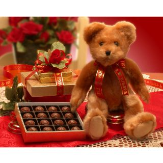 Valentine Teddy Bear Gift Set   Holiday Gift Baskets