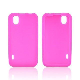 Hot Pink Silicone Case For LG Marquee LS855 Cell Phones & Accessories