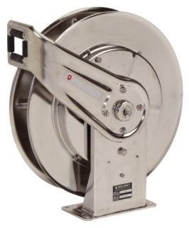 Reelcraft Stainless Steel Air/Water 1/2 in. Hose Reel   50 ft.   Equipment