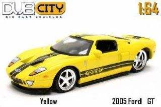 Jada Dub City Yellow 2005 Ford GT with Black Stripes 164 Scale Die Cast Car Toys & Games