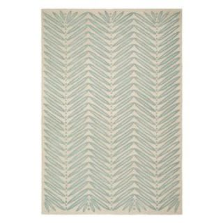 Martha Stewart by Safavieh,MSR3612C Chevron Leaves Area Rug   Blue Fir   Area Rugs