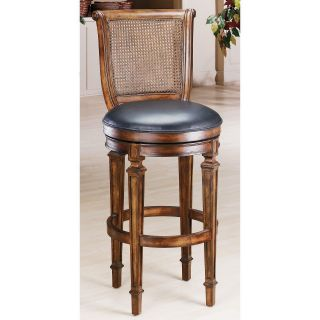 Hillsdale Dalton 24 in. Cane Back Swivel Counter Stool   Bar Stools