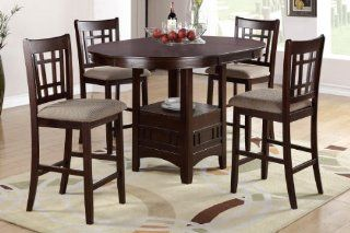 Pesaro 5 Pieces Counter Height Oval Table and 4 Chairs Home & Kitchen