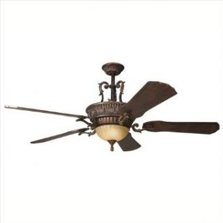 "Kichler 300008BKZ Kimberley 56"" Indoor Ceiling Fan with 5 Blades   Includes Cool Touch Remote, Lig, Berkshire Bronze"