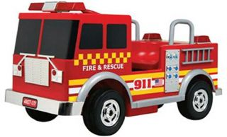 Kalee Fire Truck Battery Powered Riding Toy   Battery Powered Riding Toys
