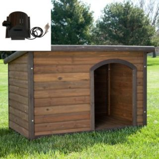 Boomer & George Log Cabin Dog House with cooling fan   Dog Houses