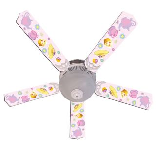 Ceiling Fan Designers Girls Tea Time Party Indoor Ceiling Fan   Pink   Ceiling Fans