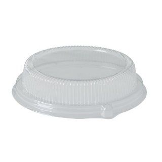 "Solo LPF95 Polystyrene Plastic Dome Lid, 2 3/32"" Height, For Platters/Plates/Bowls, Clear (Case of 300)"
