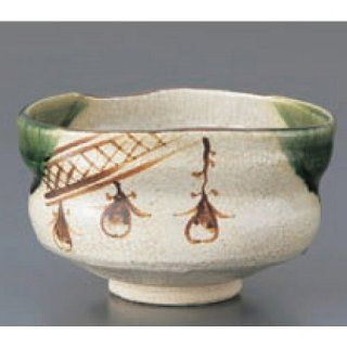 teacup kbu842 10 082 [5.12 x 4.14 x 2.76 inch] Japanese tabletop kitchen dish Matcha bowl Oribe shoe type cup (K ceramic work ) [13 x 10.5 x 7cm] cafe restaurant tableware restaurant business kbu842 10 082   Teacups