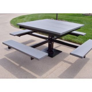 Jayhawk Plastics Commercial T Picnic Table   Picnic Tables
