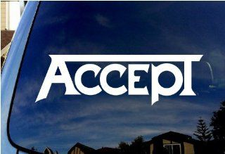 "Accept Band Car Window Vinyl Decal 6"" Wide"