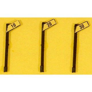 ANGLED SPEED SIGNS   JL INNOVATIVE DESIGN HO SCALE MODEL TRAIN ACCESSORIES 843 Toys & Games