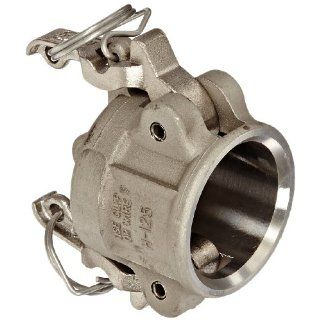 "Dixon Valve RH125BL Stainless Steel 316 Boss Lock Type H Cam and Groove Fitting, Dust Cap, 1 1/4"" Camlock Hose Fittings"