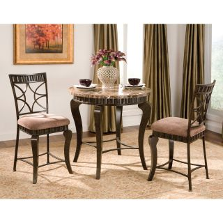 Steve Silver Hamlyn 3 piece Marble Top Counter Height Dining Table Set   Pub Tables