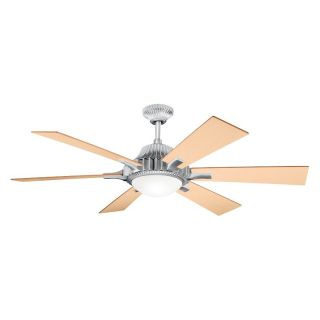 Kichler 300136BA Valkyrie 52 in. Indoor Ceiling Fan   Brushed Aluminum   Ceiling Fans