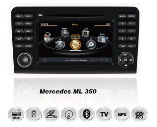 Mercedes Benz ML 350 OEM Digital Touch Screen Car Stereo 3D Navigation GPS DVD TV USB SD iPod Bluetooth Hands free Multimedia Player  Vehicle Dvd Players
