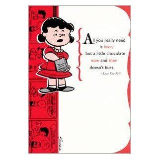 "Greeting Card Birthday Peanuts ""All you really need is love but a little chocolate now and then doesn't hurt"" Health & Personal Care"