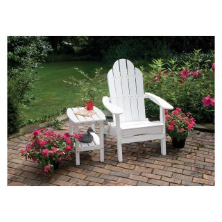 Great American Woodies Lifestyle Recycled Plastic Folding White Adirondack Chair   Adirondack Chairs