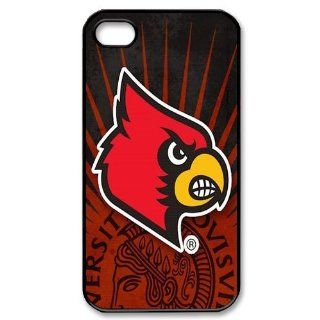 WY Supplier New Design Funny Fashion Cool NCAA Louisville Cardinals Apple iphone 4/4s case, Louisville Cardinals phone case cover for Apple iphone 4/4s, vazza Cell Phones & Accessories