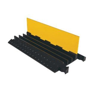"Yellow Jacket Cable Protector, 36""x18.5""x2.875"" Three Cable Guard Slots, Model # YJ3 225 Industrial Warning Signs"