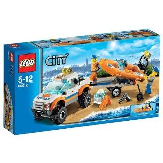 Lego 60012 City Coast Guard 4x4 Jeep Truck and Diving Boat & Minigfures New 5 12 Good Quality Fast Shipping Ship Worldwide From Hengheng Shop