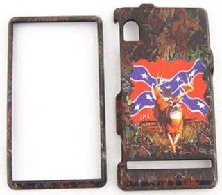 Motorola Droid A855 Camo / Camouflage Hunter Series, Deer on Rebel Flag Hard Case/Cover/Faceplate/Snap On/Housing/Protector Cell Phones & Accessories