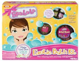 POOF Slinky 30003 Ideal Spa La La Exotic Bath Kit with Scented Oils and Heart Shaped Soap, 10 Activities Toys & Games