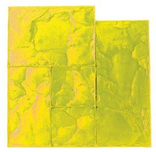 BonWay 12 882 24 Inch by 24 Inch Ashlar Cut Stone Urethane Texture Mat, Yellow   Multi Function Power Tools