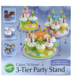 Wilton 307 859 3 Tier Cakes and Cupcake Stand Kitchen & Dining
