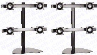 "KT885 LCD Monitor Mount / Stand For Mounting 8 LCD Monitors up to 30"" in a 2 x 4 Array Electronics"