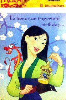 Disney's Mulan Birthday party invitation Toys & Games