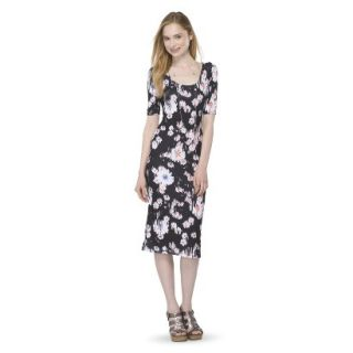 Mossimo Supply Co. Juniors Printed Midi Dress   Broken Floral S(3 5)