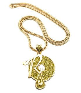 "New Iced Out ROCAFELLA Pendant 4mm&36"" Franco Chain Hip Hop Necklace XP888GY Jewelry"