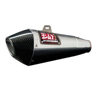 Yoshimura R55 Full Exhaust   Stainless Steel Muffler   Carbon Fiber End Cap , Material Stainless Steel 1170088 Automotive