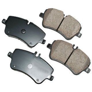 Akebono EUR872 EURO Ultra Premium Ceramic Front Brake Pad Set For 2001 2010 Mercedes Benz C Class, CLK Class, SL Class Automotive