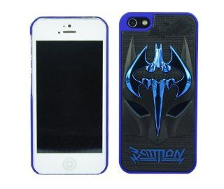 BYG Black+blue 3D Batman Mask Inspiration Latest Trend Design Cases Covers for Iphone 4 4s + Gift 1pcs Phone Radiation Protection Sticker Cell Phones & Accessories