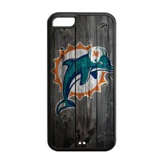 iPhone 5C Case   Wood Look NFL Miami Dolphins Apple iPhone 5C (Cheap IPhone 5) TPU Case Cell Phones & Accessories