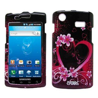 Purple Flower Hard Case Cover for Samsung Captivate SGH I897 Cell Phones & Accessories
