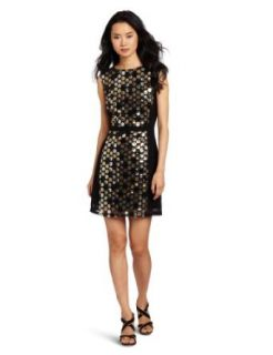 Ali Ro Women's Sleeveless Combo Dress, Metallic, 12