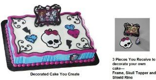 MONSTER High Skulette Draculaura Party Cake Decorating Frame Topper Set Kit Health & Personal Care