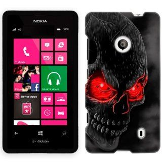 Nokia Lumia 521 Red Eye Skull Phone Case Cover Cell Phones & Accessories