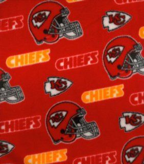 NFL Kansas City Chiefs Football Fleece Fabric Print By the Yard