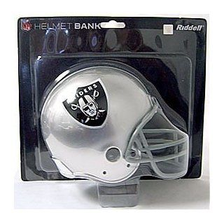 Oakland Raiders Mini Football Helmet Coin Bank Sports & Outdoors
