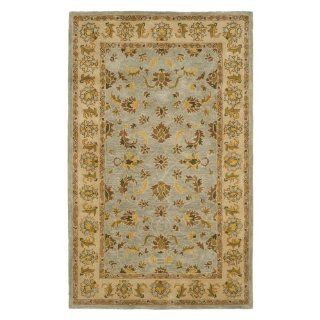 Safavieh Heritage Collection HG913A Handmade Light Blue and Beige Hand spun Wool Area Rug, 9 Feet 6 Inch by 13 Feet 6 Inch