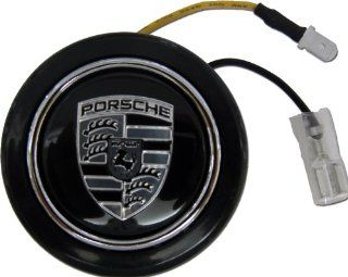 Porsche Steering Wheel Horn Button in BLACK for 911 914 993 928 968 944 986 930 996 924 996 997 Boxster Cayenne Carrera Targa Panamera Cayman Automotive