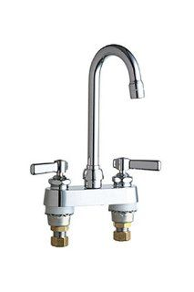 Chicago Faucets 895 CP Deck Mount 4 Inch Centerset Lavatory Faucet, Chrome   Touch On Bathroom Sink Faucets