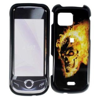 Black Fire Skull Hard Cover Case for Samsung Mythic SGH A897 Cell Phones & Accessories