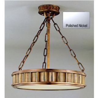 Hudson Valley Lighting 901 PN Middlebury 3 Light Semi Flush Ceiling Fixture with Frosted Opal Glass Diffuser, Polished Nickel   Semi Flush Mount Ceiling Light Fixtures
