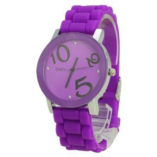 DMN m172 Simple Individual Silicone Band Round Dial Women's Watch  Purple   JUST ARRIVE Watches