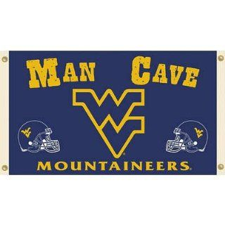 (36x60) NCAA West Virginia Mountaineers Man Cave Flag with Grommets   Sports Fan Outdoor Flags